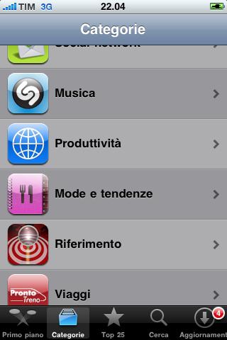 App Ricette nella Top10 italiana