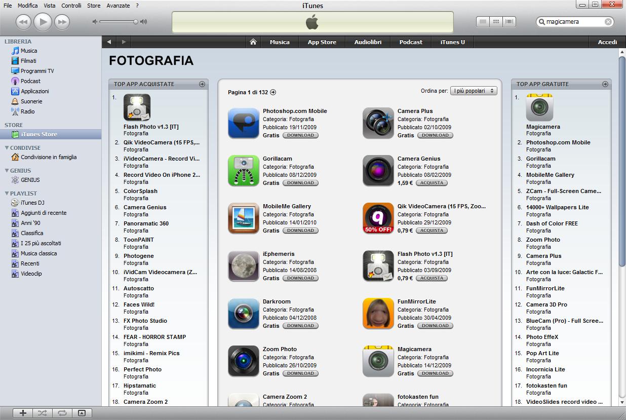 Magicamera iPhone Photo App #1 in Italia